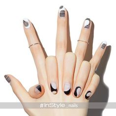 Try some of these designs and give your nails a quick makeover, gallery of unique nail art designs for any season. The best images and creative ideas for your nails. Nail Polish, Manicure And Pedicure, Easy Nail Art, Cute Nail Art, Space Nails, Modern Nails, Minimalist Nails, Fabulous Nails, Creative Nails