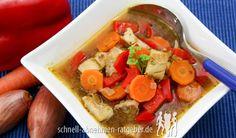 Knurrhahn Fischsuppe mit Gemüse