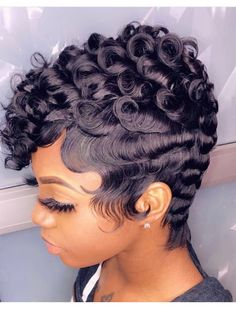 hairstyles for women 27 Piece Hairstyles, Short Quick Weave Hairstyles, Dope Hairstyles, Cute Hairstyles For Short Hair, Curly Hair Styles, Natural Hair Styles, Black Hairstyles, Braided Hairstyles, Wave Hairstyle