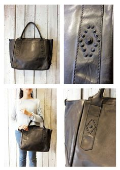 MYBAG STAR Handmade Italian leather Style Tote Bag di LaSellerieLimited su Etsy