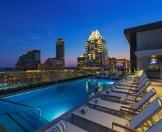 Azul rooftop pool at The Westin Downtown