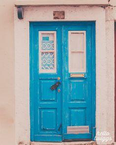 Door Photo, Portugal Photos,Travel Photos, Lisbon Print, Turquoise Blue, Wall Decor, Europe Photos, Lisbon Doors, Blue Door, Vintage Fabric