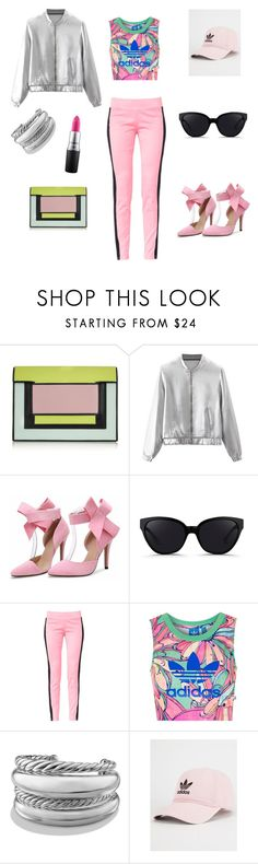 """pink is life"" by tracy-mizo ❤ liked on Polyvore featuring Pierre Hardy, 3.1 Phillip Lim, Maiocci, Topshop, David Yurman, adidas and MAC Cosmetics"