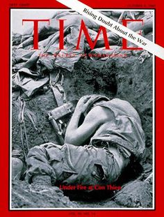 1967-10 Marines at Con Thien Copyright Time Magazine - www.MadMenArt.com | Our favorite Vintage Magazine Covers from 1891 to 1970. A timeline of cover personalities and historic events. #Vintage #Magazine #Covers #Ads #VintageAds #MagazineCovers