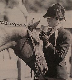 Sara Wytrzes waits for the Junior Hunters to jog. She was champion of the division on her catch ride, Maggie May, at the Sea Coast Classic in 1997