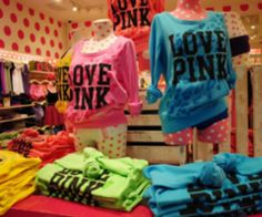 #lovepink #victoriasecret #pink #blue #green #yellow #highlightercolors