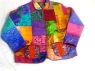 Willow Ridge 100% Patchwork Silk Jacket XL