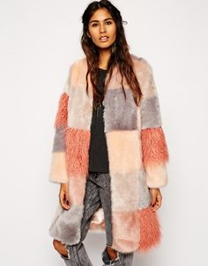 This patchwork fluffy coat is amazing, can't wait to wear it to all the Christmas markets. http://asos.do/TE5yMv