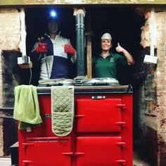 Red Aga, restoring the original inglenook in our farmhouse. Country house country living