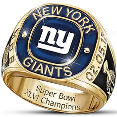 NFL New York Giants Super Bowl XLVI Champions Men's Ring