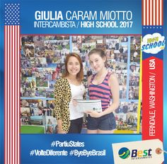 #partiuhighschool Embarques de High School 2017.  A nossa intercambista Giulia Caram Miotto está embarcando rumo à Ferndale, Washington (USA), para viver novas experiências e ter novas aventuras. Bye Bye Brasil, boa Viagem, bons estudos, enjoy your new life and #voltediferente #usa #highschool #partiustates