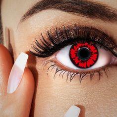 Kontaktlinsen rot, blutrote Farblinsen für Vampir-Look
