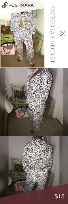 VS Animal Print Pajamas VS animal Print Pajamas. Size Large PINK Victoria's Secret Intimates & Sleepwear Shapewear
