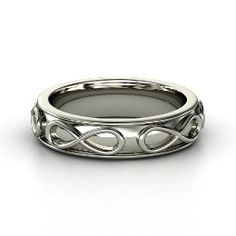 Infinity Band, Sterling Silver Ring from Gemvara