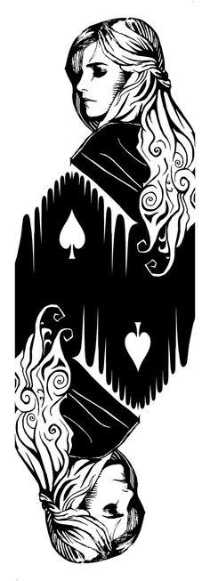 Queen of Spades (double) by ~PiotrHarold on deviantART
