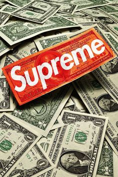 Supreme Cash Wallpaper. #supreme #hypebeast #money #cash #iphone #wallpaper