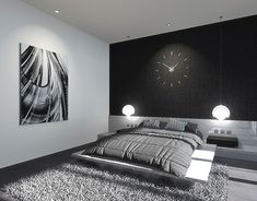 Beautiful And Minimalist Bedroom Ideas for a Stylish Space, If you are the type of person who likes a minimalist style, and is looking to rearrange your bedroom, take a look at some of the Beautiful and Minimalist Bedroom Ideas for a Stylish Room below. Luxury Interior Design, Luxury Home Decor, Luxury Homes, Monochrome Bedroom, Monochrome Interior, Home Bedroom, Bedroom Decor, Bedroom Inspo, Bedroom Ideas