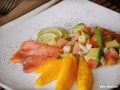 Guacamole con mango y salmón ahumado (Bake-Street)