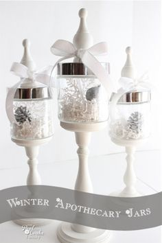 Christmas Apothecary Jars {Christmas Decorations} » The Real Thing with the Coake Family