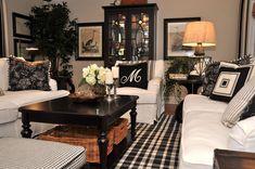 Living room design | Black and white living room | Coronado - Kathy Ann Abell Interiors