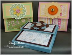 Post-it Note Holders by discoverstampin - Cards and Paper Crafts at Splitcoaststampers