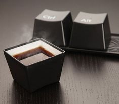 Keyboard Keys Coffee Mug Set