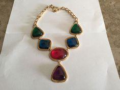Rare Estate Vintage Kenneth Jay Lane KJL For Avon Caprianti Collection Necklace  #KennethJayLane