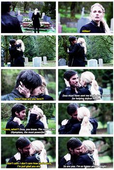 Killian & Emma!! There are No Words to Describe my FanGirl Feels Right Now!!! I'm just So Happy He's Back!! #CaptainSwan