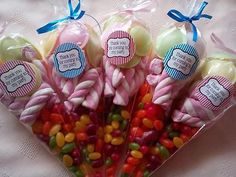 6 x Pre Filled Sweet Cone * Party Bag Favour * Birthday * Wedding * Christening