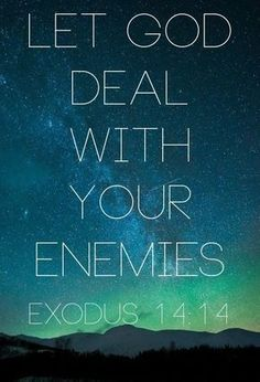 Bible Verses: let god deal with your enemies Bible Verses Quotes, Bible Scriptures, Faith Quotes, Scripture Verses, Religious Quotes, Spiritual Quotes, Quotes About God, Quotes To Live By, Great Quotes