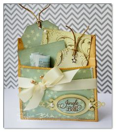 Paperbag Gift Card / Money Holder - Two Peas in a Bucket