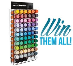 Enter to win 72 cans of Molotow Premium spray paint!  #sweepstakes