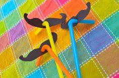 mustache straws for fiesta