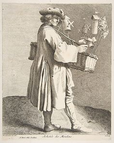 Whirligig Peddler, Paris, 1742,  Anne Claude Philippe de Tubières, Comte de Caylus  (French, Paris 1692–1765 Paris)