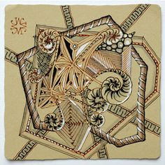 Tan Zentangle® Tiles by Maria Thomas « TanglePatterns.com