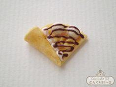 ミニチュアクレープの作り方-写真12 how to make a mini banana chocolate creame crepe