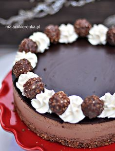 Tort Ferrero Rocher z Nutellą Bez Pieczenia Healthy Dinner Recipes, Low Carb Recipes, Ferrero Rocher Cheesecake, Keto Diet For Beginners, Eid, Nutella, Tiramisu, Sweets, Baking