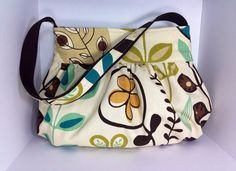 Gathered Bag/Purse small Gorgeous Cotton canvas fabric by MaDonz