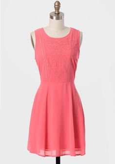 Carlsbad Embellished Dress In Coral, $36.75 (with add'l 25 off discount)