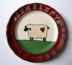 Simplify Decorative Country Plate by IndieGirlCreations on Etsy