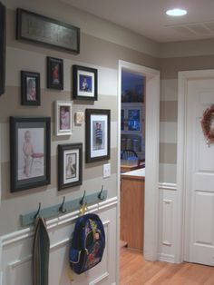 from HGTV RateMySpace - Horizontal Striped Hallway, It was time for our hallway to get a make-over! It was fine before - nothing really wrong with it but nothing re...