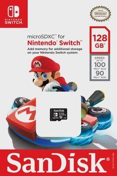 SanDisk microSDXC UHS-I card for Nintendo Switch - Nintendo licensed Product Nintendo 3ds, Nintendo Eshop, Buy Nintendo Switch, Nintendo Switch System, Control Nintendo, Xbox, Playstation, Cry Anime, Anime Art