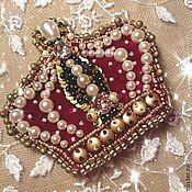 "Handmade Jewelry.  Fair Masters - handmade brooch ""Crown for Elizabeth.""  Handmade."