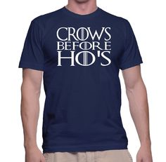 Funny Crows Before Ho's T-Shirt | Twisted Monkey Apparel by TwistedMonkeyApparel on Etsy