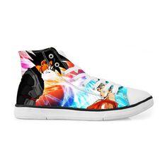 5b5d3ef85ce3 Goku Black Versus Super Saiyan Blue Goku Sneakers Converse Shoes. Saiyan  Stuff