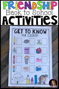Back to School, First Week of School, Friendship Activities and Centers for Preschool, Pre-K, Kindergarten