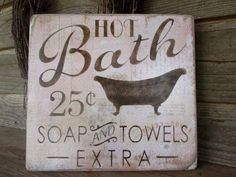 bathroom decor, wood signs, country home decor, home decor, rustic signs, primitive home decor, cottage chic, shabby decor, bath sign, by mockingbirdprimitive on Etsy https://www.etsy.com/listing/235917399/bathroom-decor-wood-signs-country-home