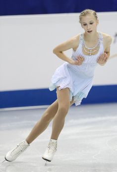 Polina Edmunds of USA compete in the Junior ladies's free program during day two of the ISU Grand Prix of Figure Skating Final 2013/2014 at ...
