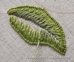 Blanket stitch leaves - part two