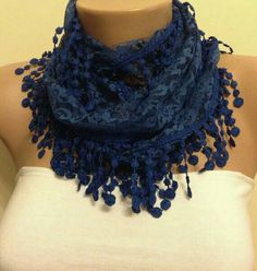 Check out this item in my Etsy shop https://www.etsy.com/listing/226070822/cobalt-blue-lace-scarf-springsummer